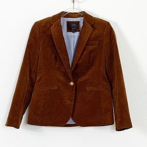 NEW J Crew Campbell Brown Corduroy Blazer Size 6
